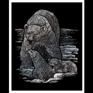 Royal (art supplies) . ROY Engrave Art Silver - Polar Bear and Cubs