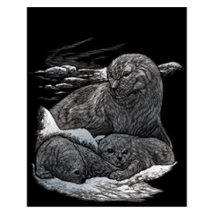 Royal (art supplies) . ROY Engrave Art Silver - Seal and Pup