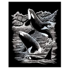Royal (art supplies) . ROY Engrave Art Silver - Orca Whales