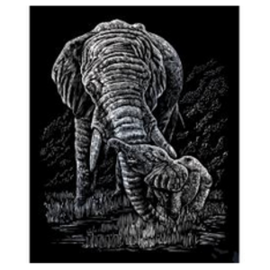 Royal (art supplies) . ROY Engrave Art Silver - Elephant and Baby
