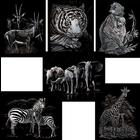 Royal (art supplies) . ROY Engrave Art Silver - Activity Set - Wildlife