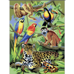 Royal (art supplies) . ROY JUNGLE SCENE Paint By Number
