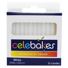 """CK Products . CKP Celebakes White Spiral Candles, 2.25"""", 24 Count"""