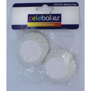 CK Products . CKP Celebakes White Mini Baking Cups - 100 Count