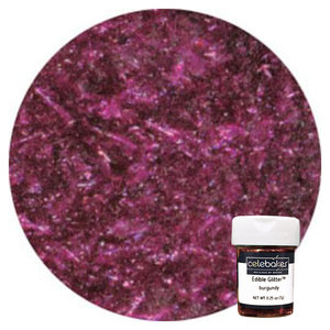 CK Products . CKP CB Burgundy Edible Glitter Flakes 1/4 oz