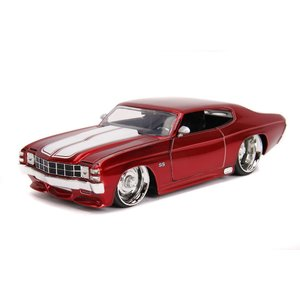 """Jada Toys . JAD Jada 1/24 """"BIGTIME Muscle"""" 1971 Chevy Chevelle SS - Candy Red"""