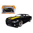 "Jada Toys . JAD Jada 1/24 ""BIGTIME Muscle"" 2010 Chevrolet Camaro Black with Yellow"