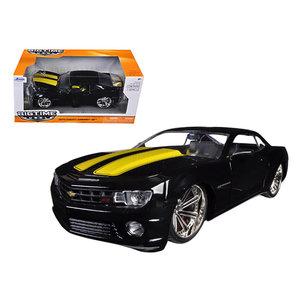 "Jada Toys . JAD Jada 1/24 ""BIGTIME Muscle"" 2010 Chevrolet Camaro Black with Yellow"