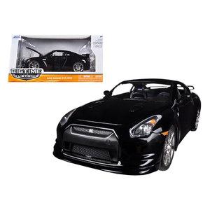 """Jada Toys . JAD Jada 1/24 """"BIGTIME Kustoms"""" 2009 Nissan GT-R - Glossy Black"""