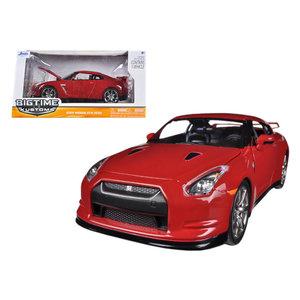 """Jada Toys . JAD Jada 1/24 """"BIGTIME Kustoms"""" 2009 Nissan GT-R - Vibrant Red"""