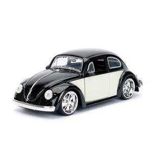 """Jada Toys . JAD Jada 1/24 """"BIGTIME Kustoms"""" 1/24 1959 VW Beetle - Black"""