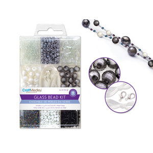 MultiCraft . MCI Glass Bead Kits: 9-Comp Multi-Pack w/Cord+Clasps 70g E) Classic