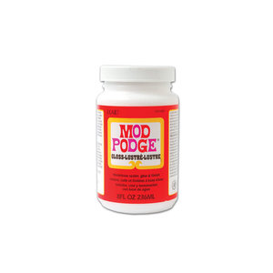Plaid (crafts) . PLD Mod Podge: 8oz All-In-One Glue/Sealer/Finish Non-Toxic A) Gloss