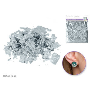 MultiCraft . MCI Paper Craft Embellishment: 5g Metallic Foil Silver Leaf Flakes