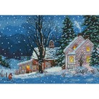 "Dimensions . DMS Counted Cross Stitch Kit 7""X5"" Quiet Night (18 Count)"