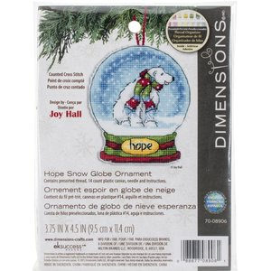 Dimensions . DMS Hope Snow Globe Cross Stitch Kit
