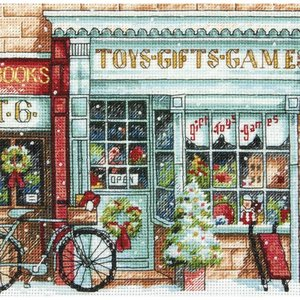 """Dimensions . DMS Gold Petite Counted Cross Stitch Kit 6""""X6"""" Toy Shoppe"""