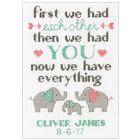 """Dimensions . DMS Counted Cross Stitch Kit 5""""X7"""" Family Birth Record"""