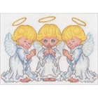 """Dimensions . DMS Counted Cross Stitch Kit 7""""X5"""" Little Angels"""