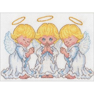 "Dimensions . DMS Counted Cross Stitch Kit 7""X5"" Little Angels"