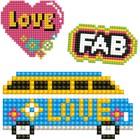 Diamond Dot . DDT DOTZIES Stickers Facet Art Kit Multi Pack Love 3/Pkg