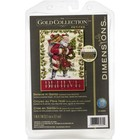 "Dimensions . DMS Gold Petite Counted Cross Stitch Kit 5""X7"" Believe In Santa"