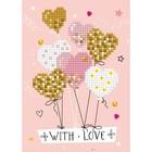 Diamond Dot . DDT Diamond Embroidery Facet Art Greeting Card Kit Love Balloons