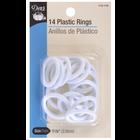 """Dritz . DRZ Plastic Rings 1-1/8"""" 14/Pkg White"""