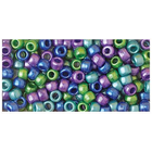 Beadery . BDR Pony Beads 6mmX9mm 415/Pkg Cool Pearl Multicolor