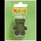Makins . MAK Makin's Clay Cutters 3/Pkg Teddy Bear
