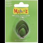 Makins . MAK Makin's Clay Cutters 3/Pkg Bulb Ornament