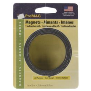 "ProMag . PMG Adhesive Magnetic Tape 1""X30"""