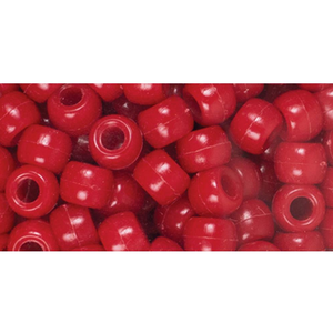 Cousins Corporation . CCA Fun Pack Acrylic Pony Beads 250/Pkg Red