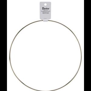 "Darice . DAR Gold Metal Macrame Ring 8"""