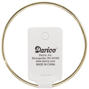 "Darice . DAR Gold Metal Macrame Ring 5"""
