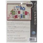 "Dimensions . DMS Mini Counted Cross Stitch Kit 7""X5"" Let It Snow (14 Count) Calgary"