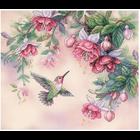 Dimensions . DMS Hummingbird & Fuchsias Cross Stitch Kit