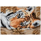 "Dimensions . DMS Gold Petite Counted Cross Stitch Kit 7""X5"" Beguiling Tiger (18 Count)"