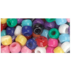 Beadery . BDR Pony Beads 6mmX9mm 900/Pkg Opaque Multicolor