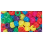Beadery . BDR Pony Beads 6mmX9mm 900/Pkg Neon Multicolor