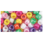 Beadery . BDR Pony Beads 6mmX9mm 900/Pkg Pearl Multicolor