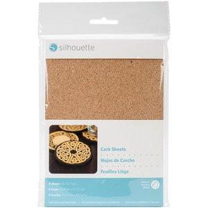 "Silhouette . SIL Silhouette Adhesive Cork Sheets 5""X7"" 8/Pkg"