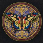 "Dimensions . DMS Gold Petite Counted Cross Stitch Kit 6""X6"" Ornate Butterfly (18 Count)"