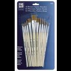 Loew-Cornell . LWC Brown Nylon Brush Set 12/Pkg