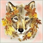 Collection D'Art . CDA Diamond Embroidery/Printed/Gem Kit 38X38cm Wolf