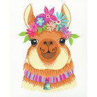 """Dimensions . DMS Paint By Number Kit 8""""X10"""" Flowery Llama"""