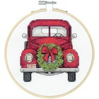 "Dimensions . DMS Counted Cross Stitch Kit W/Hoop 6"" Truck (14 Count)"