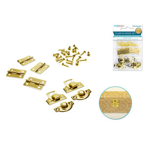 MultiCraft . MCI Craft Medley Clasp & Hinge Set (Gold)