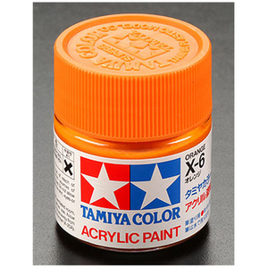 Tamiya America Inc. . TAM X-6 Orange Acrylic 23ml
