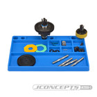 J Concepts . JCO Parts Tray, Rubber Material - Blue